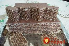 Prajitura no bake with foil Napoli Taneytown and chocolate bucataras. Romanian Desserts, Romanian Food, Sweets Recipes, Cake Recipes, Yummy Treats, Delicious Desserts, Wafer Cookies, Chocolate Wafers, Croatian Recipes