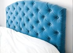 DIY Idea: Make Your Own Tufted Headboard  I could probably make one for Lilly's room and maybe guest room two.  Can't be that difficult......can it?