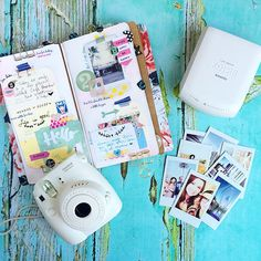 Life Changing. (As my sweet friend @hkswapp told me).I can't tell you how stinking excited I am about my new little Instax share printer! If you've followed me for a while, you know when I went on my trip to Mexico, I journaled each day in my Midori & I took photos with my Instax Fuji camera  to help document it. I've owned the camera for years, & it's so fun to use, but the only thing I haven't  loved about the camera was it's bulky to carry around, & the quality of the photos aren't that…