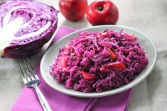 This German Braised Cabbage Recipe has been handed down from generation to generation. It's tangy and sweet and full of flavor Best Cabbage Recipe, Cabbage Salad Recipes, Veggie Recipes, Yummy Recipes, Vegetarian Recipes, Spiced Red Cabbage, Braised Red Cabbage, Stewed Potatoes, Side Dishes