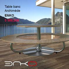 Table banc Archimède - Enko #outdoor #outdoordesign #design #garden #jardin #extérieur
