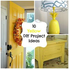 10 yellow DIY project ideas for the home