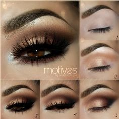 Kim Kardashian Eye Makeup Tutorial - How to Get Kim Kardashian Eyes - Kim Kardashian Makeup Tutorial - Love Makeup, Hair Makeup, Makeup Ideas, Makeup Tips, Makeup For Black Dress, Beauty Makeup, Makeup Geek, Prom Makeup Red Dress, Makeup Hairstyle