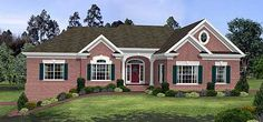 Plan W2046GA: Photo Gallery, Sloping Lot, Ranch, Corner Lot, Traditional House Plans & Home Designs