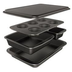 Baker's+Secret+Easy+Store+5-pc.+Nonstick+Bakeware+Box+Set