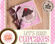 PATTERN for Let's Bake Cupcakes Plush Recipe Book - digital .PDF download