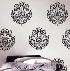 Wall Stencil Brocade No.1 MED - Reusable Wall Stencil Better than wall decals on Etsy, $39.95