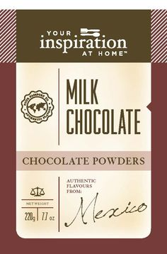Milk Chocolate Powder  Traditional chocolate flavour. Great hot or cold!