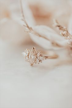 Marquise Champagne Diamond with Marquise and Round Fancy Side Diamond Ring Yellow Gold Ring Champagne Wedding Rings, Champagne Diamond Rings, Marquise Wedding Rings, Marquise Engagement Rings, Unique Wedding Rings, Wedding Ring Gold, Gold Diamond Rings, Yellow Gold Rings, Dream Engagement Rings