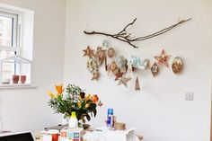 homemade advent calendar and clock makeover | artemis russell