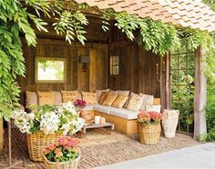 Pergola For Small Patio Outdoor Areas, Outdoor Rooms, Indoor Outdoor, Outdoor Living, Outdoor Furniture Sets, Outdoor Decor, Rustic Outdoor, Patio Pergola, Patio Roof
