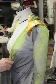 Gustavo Lins atelier in Paris, haute couture