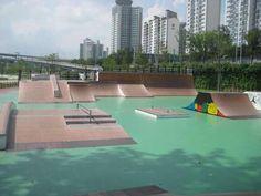 Ttukseom Skatepark Skate Park, Building Design, Great Places, Seoul, Exterior, Urban, City, Outdoor Decor, Image