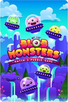 Character & Background & UI Designs for Blob Monsters games.All rights reserved to Poker Face Apps (Australia)