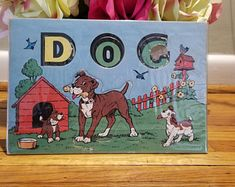 REDUCED PRICE.....Vintage Pre School Alphabet Spelling Cut Out Farm Animal Puzzle