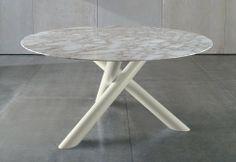 #Minotti Van Dyck Circular #table / #white