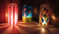 Light Up Jars Painted