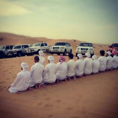Prayer in the desert- thank god for Islam