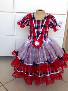 caipira-infantil-xadrez-vermelho-2015-vestido-junino-baby Vestidos Country, Country Dresses, Leggings, Beautiful Children, Little Princess, Frocks, Afro, Ideias Fashion, Kids Outfits
