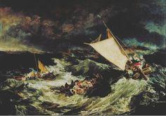 Joseph Mallord William Turner. The Shipwreck. Ca. 1805 #art #storm #painting