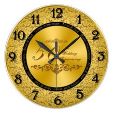 Wedding Anniversary Wall Clock In our offer link above you will seeHow to Wedding Anniversary Wall Clock Online Secure Check out Quick and Easy. Happy Anniversary Mom Dad, Anniversary Clock, 50th Anniversary Gifts, Golden Wedding Anniversary, Anniversary Ideas, Unusual Christmas Gifts, Christmas Gifts For Boyfriend, Boyfriend Gifts, Gold Wall Clock
