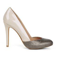 Metallic & Ivory Heel.