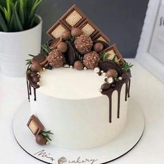Creative Cake Decorating, Cake Decorating Videos, Creative Cakes, Pretty Birthday Cakes, Pretty Cakes, Fancy Desserts, Crazy Cakes, Drip Cakes, Sweet Cakes