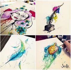 Estúdio Sesto www.estudiosesto.com #aquarela #motion #2d #apps