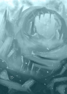 A messy sketch for new brush testing
