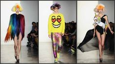 Jeremy Scott fall/winter 2012 @ London Fashion week...HAIR PONCHO!