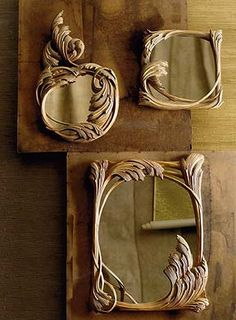beautiful drift wood mirrors...really from drift wood? wow!