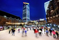 Charlotte Holiday on Ice. Definitely want to do this in the winter!