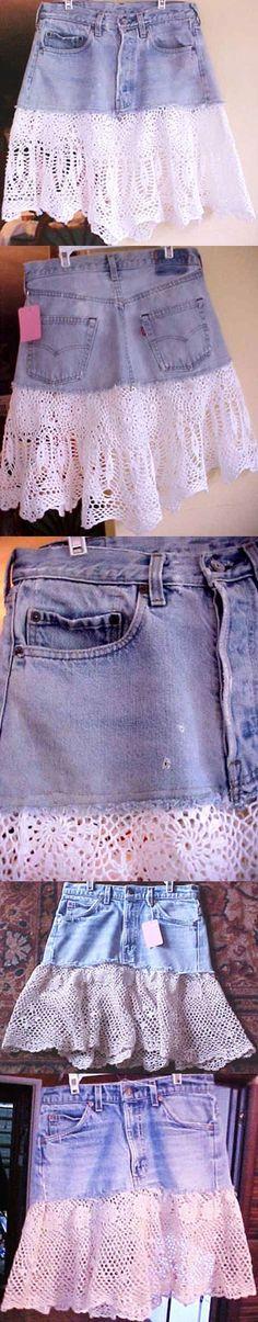 Jeans crochet