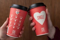 7-Eleven Valentine's Day Coffee Cups on Behance