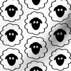Colorful fabrics digitally printed by Spoonflower - Fluffy Sheep Faces Fluffy Sheep Faces fabric by themadcraftduckie on Spoonflower - custom fabric<br> Add a pop of pattern with unique fabric, wallpaper & gift wrap. Eid Crafts, Easter Crafts, Sheep Face, Eid Stickers, Sheep Crafts, Shaun The Sheep, Eid Photos, Happy Eid, Sunday School Crafts