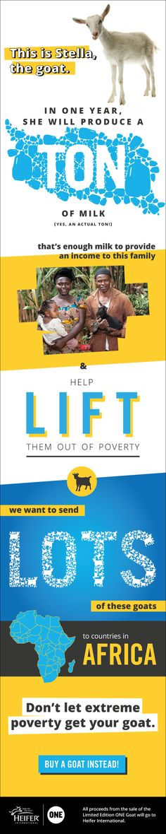 Wondering why you should give one of my goat friends to a family in Africa? Just read this #infographic!