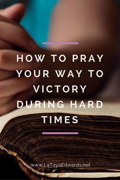 Prayer during difficult times can sometimes seem impossible. But really it's the key to victory. Prayer defeats the enemy. Let's do this!