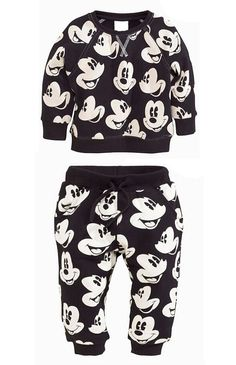 Kids Boys Girls Mickey Mouse Jumper Trousers Set Clothes Top Bottom Longsleeve | eBay