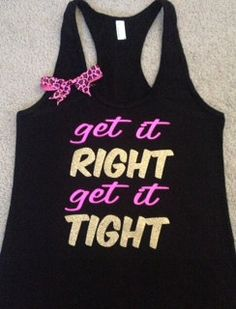 Get it RIGHT Get it TIGHT Racerback Tank by RufflesWithLove, $26.00 #bowtank #workout #fitness #gym