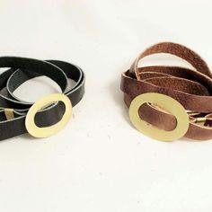 Leather choker or bracelet.....wear it as you like!