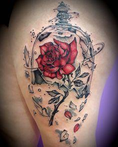 """880fbce91 Marcy & Biby Tattoo on Instagram: """"-BEAUTY AND THE BEAST TATTOO- 🌹La Bella  e la Bestia🌹 #tattoo #tatuaggio #reggioemiliatattoo #tatuaggioreggioemilia  ..."""