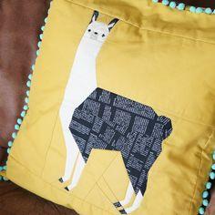 Paper pieced Leonard the Llama sewing pattern.