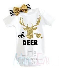 Oh Deer! Set Onesie + Headband