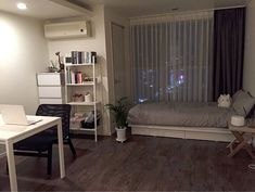 Transforming a tiny dorm room into a home is not an easy task. Keep reading to learn how you can create a clean, yet cozy, minimalist dorm room of your own. Minimalist Dorm, Home Bedroom, Room Interior, Bedroom Interior, House Rooms, Home Decor, Apartment Decor, Small Bedroom, Aesthetic Rooms