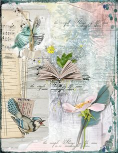 https://flic.kr/p/T8wZpV | SIMPLE THINGS |   For an art journal challenge at Oscraps. Elements from Angie Young, Dido Designs, Lynne Anzelc, and NBK Designs. #artjournal #digitalartjournaling #digitalart