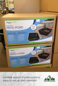 Not enough space for a pond? A patio pond can add a soothing and delightful water feature with simple setup and minimal maintenance. In stock at our Matawan NJ showroom.
