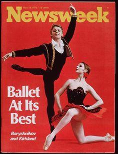 Mikhail Baryshnikov and Gelsey Kirkland on the cover of Newsweek, 1975