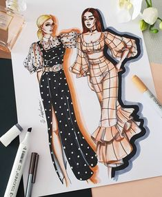 Fashion design sketches 797559415249335731 - ✔ Dress Drawing Sketches Haute Couture Source by Dress Design Sketches, Fashion Design Sketchbook, Fashion Design Drawings, Fashion Sketches, Drawing Sketches, Drawing Style, Art Sketchbook, Drawing Art, Drawing Tips