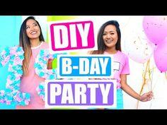 DIY Tumblr Birthday Party for Teen Girls!!! - YouTube