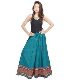 Buy Rajasthani Full Length Blue Skirt skirt online